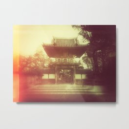Japanese Tea Garden with an old school feel Metal Print