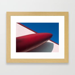 Red Rocket Ship Framed Art Print