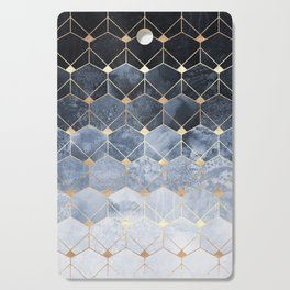 Blue Hexagons And Diamonds Cutting Board