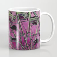 ferris wheel Mugs featuring Ferris-Wheel by The Strange Days Of Gothicrow