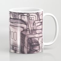 cartoons Mugs featuring Saturday Morning Cartoons 2: TV Print by Kayleigh Morin