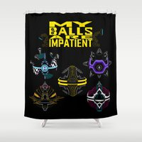 justice league Shower Curtains featuring LEAGUE OF LEGENDS . ORIANNA's Pet Ball by AngeltwoZion