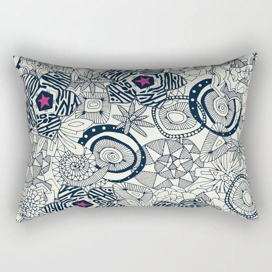 succulents ivory pink star Rectangular Pillow