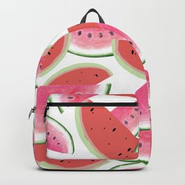 sweet watermelon pattern in pink and red colors Backpack
