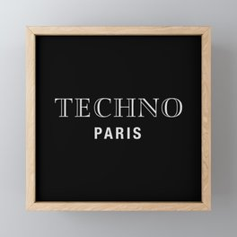 Techno Paris, for techno Djs. Framed Mini Art Print
