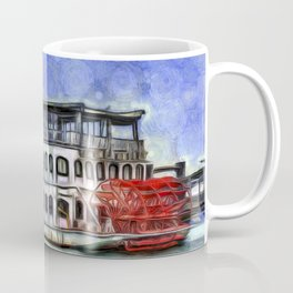New Orleans Paddle Steamer Van Goth Coffee Mug