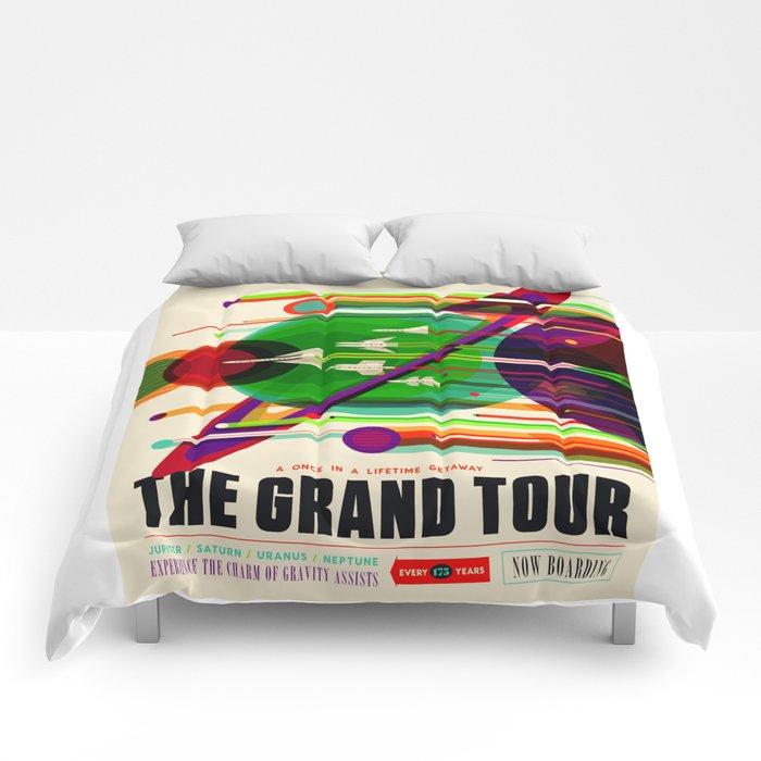 NASA Space Saturn Shuttle Retro Poster Futuristic Explorer Comforters