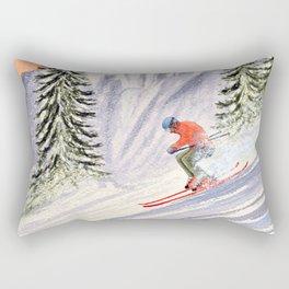 Skiing The Aspen Colorado Slopes Rectangular Pillow