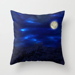 Boga Lake, Bandarban    Bangladesh (Moonlight) Throw Pillow