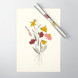 Wildflowers Bouquet Wrapping Paper