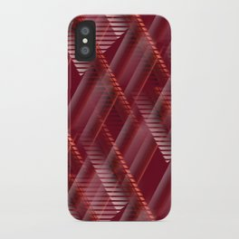 Pattern red shutter iPhone Case