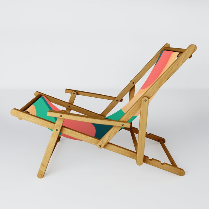 The river, abstract painting Sling Chair