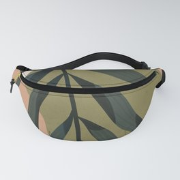 Tropical Leaf- Abstract Art Fanny Pack