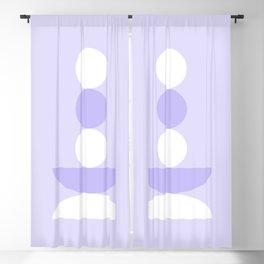 Zen - Balancing - Lilac Blackout Curtain