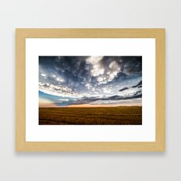 After the Storm - Spacious Sky Over Field in West Texas Framed Art Print