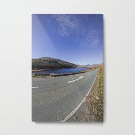 The Road To Snowdon Metal Print