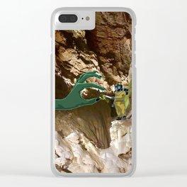 En partageant une clope Clear iPhone Case