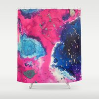 bruno mars Shower Curtains featuring Mars by Heather Plewes Art