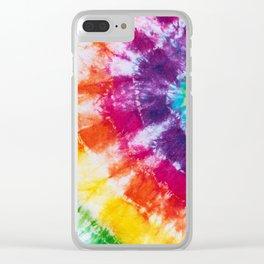 Tie-dye Clear iPhone Case