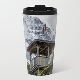 Swiss Observation Tower and Monch (Monk) Mountain - Lauterbrunnen Travel Mug