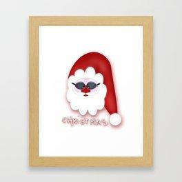Christmas Santa CB Framed Art Print