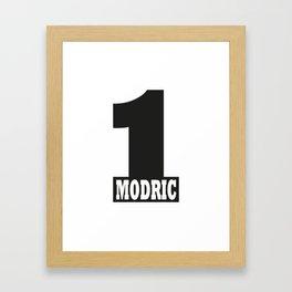 Luka Modric named number 1 of the world Framed Art Print
