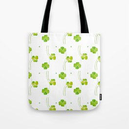 green clover leaf pattern watercolor Tote Bag