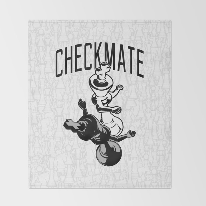 Checkmate Punch Funny Boxing Chess Throw Blanket