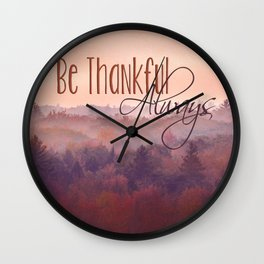 Give Thanks Always - Autumn Landscape Wall Clock