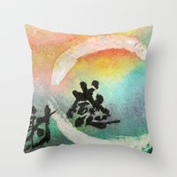 thanksgiving Throw Pillows featuring Thanksgiving by Wakoshi