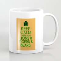 dorothy Mugs featuring Keep Calm Dorothy by Rude and Insensitive