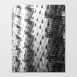 Chicago fire escapes Canvas Print