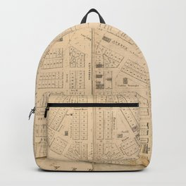 Vintage Map of Detroit MI (1835)` Backpack