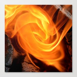 swirling flame Canvas Print