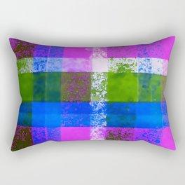 Purple Plaid Hand Painted Print By James Thomas Ryan Rectangular Pillow