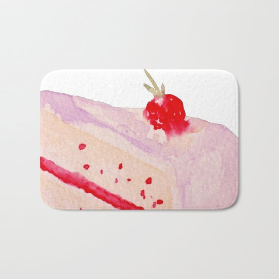 Strawberry Cake Bath Mat