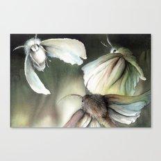 Moths around a flame Canvas Print