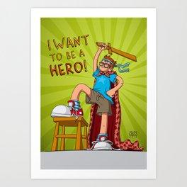 Hero Boy Art Print
