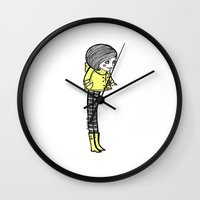 coraline Wall Clocks featuring Coraline by Bianca No