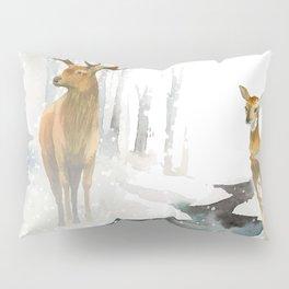 snowing forest Pillow Sham