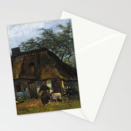 Vincent van Gogh - Farmhouse in Nuenen Stationery Cards