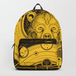Sacred Geometry Astrological Phases of the Moon Bear Backpack