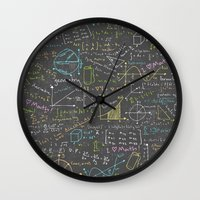 math Wall Clocks featuring Math Lessons by robyriker