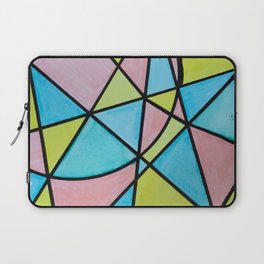 Pastel Triangles and Circle Color Blocks Laptop Sleeve