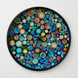 Dots on Painted Background Wall Clock