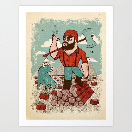 Paul Bunyan & Babe Art Print