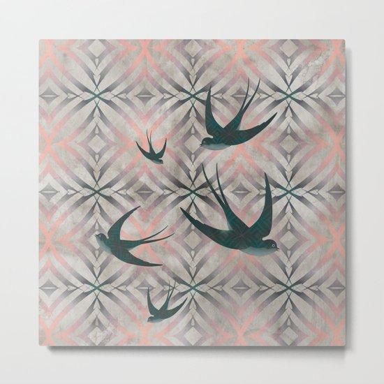 Swoop (in Pink) Metal Print