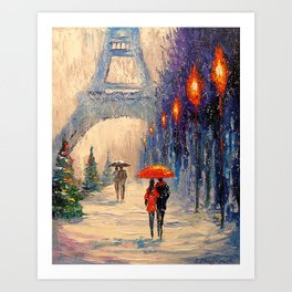 New year's Paris Art Print