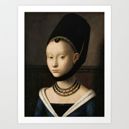 Portrait of a Young Girl by Petrus Christus Art Print