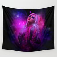 jem Wall Tapestries featuring Jem and the Hologram by Claudia Digital Graphics
